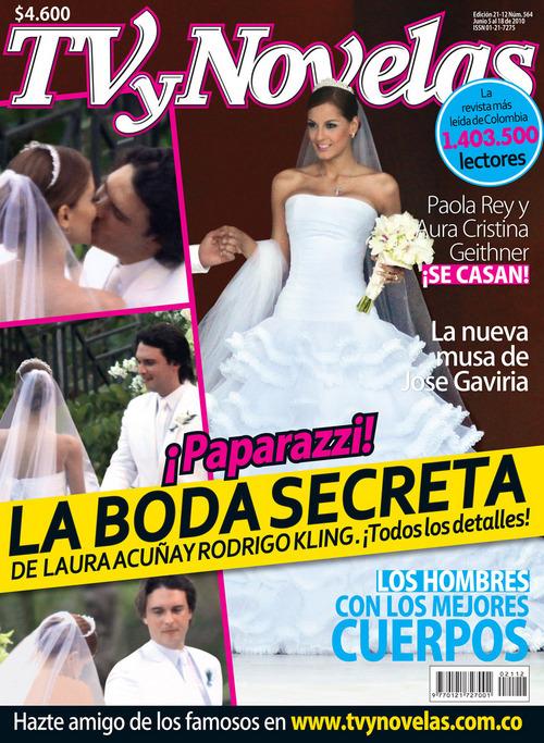 TV y Novelas con los detalles de la boda de Laura Acuña